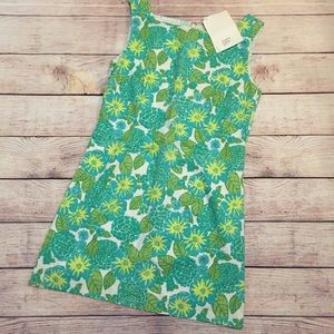 Lilly Pulitzer Green Floral Print Seersucker Dress